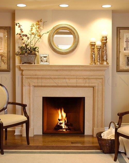 Pin On Fireplaces, No Mantel Fireplace Decor