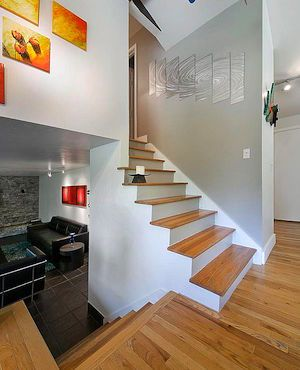 Half Staircase In Split Level Home