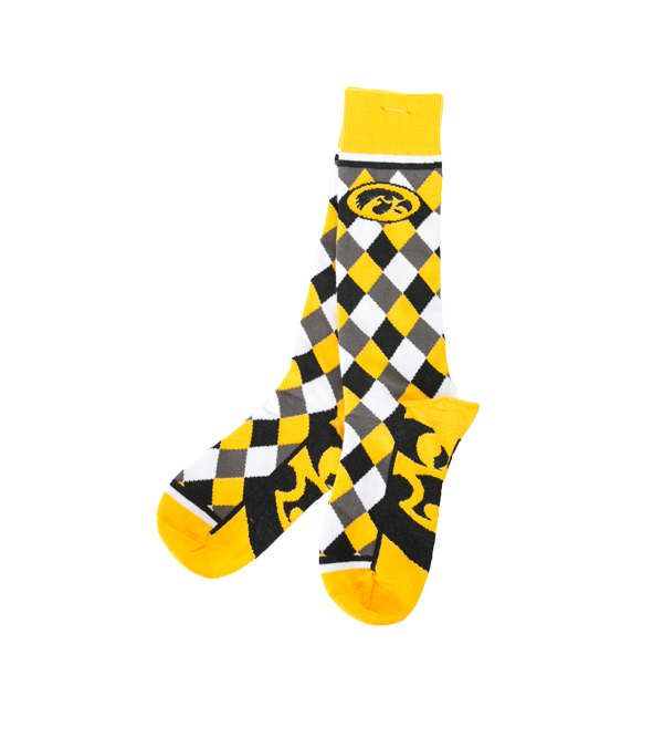 Iowa Hawkeyes Diamond Pattern Zoom Sock