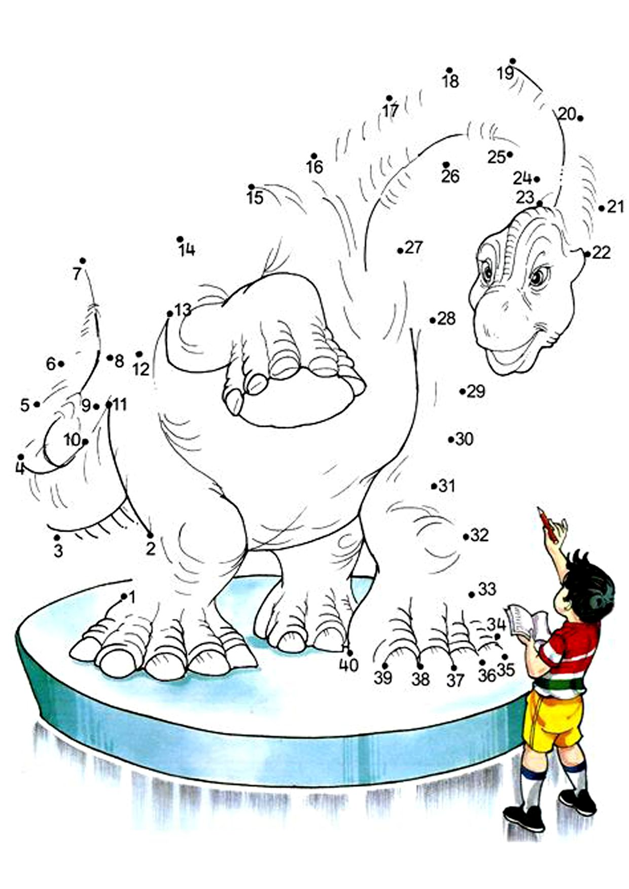 Httpss3 central 1azonawsimgvenokdinosaurs these number dot to dot or connect the dots worksheets printable helps the kids to practice numbers while counting and joining the dot numbers to get a robcynllc Gallery