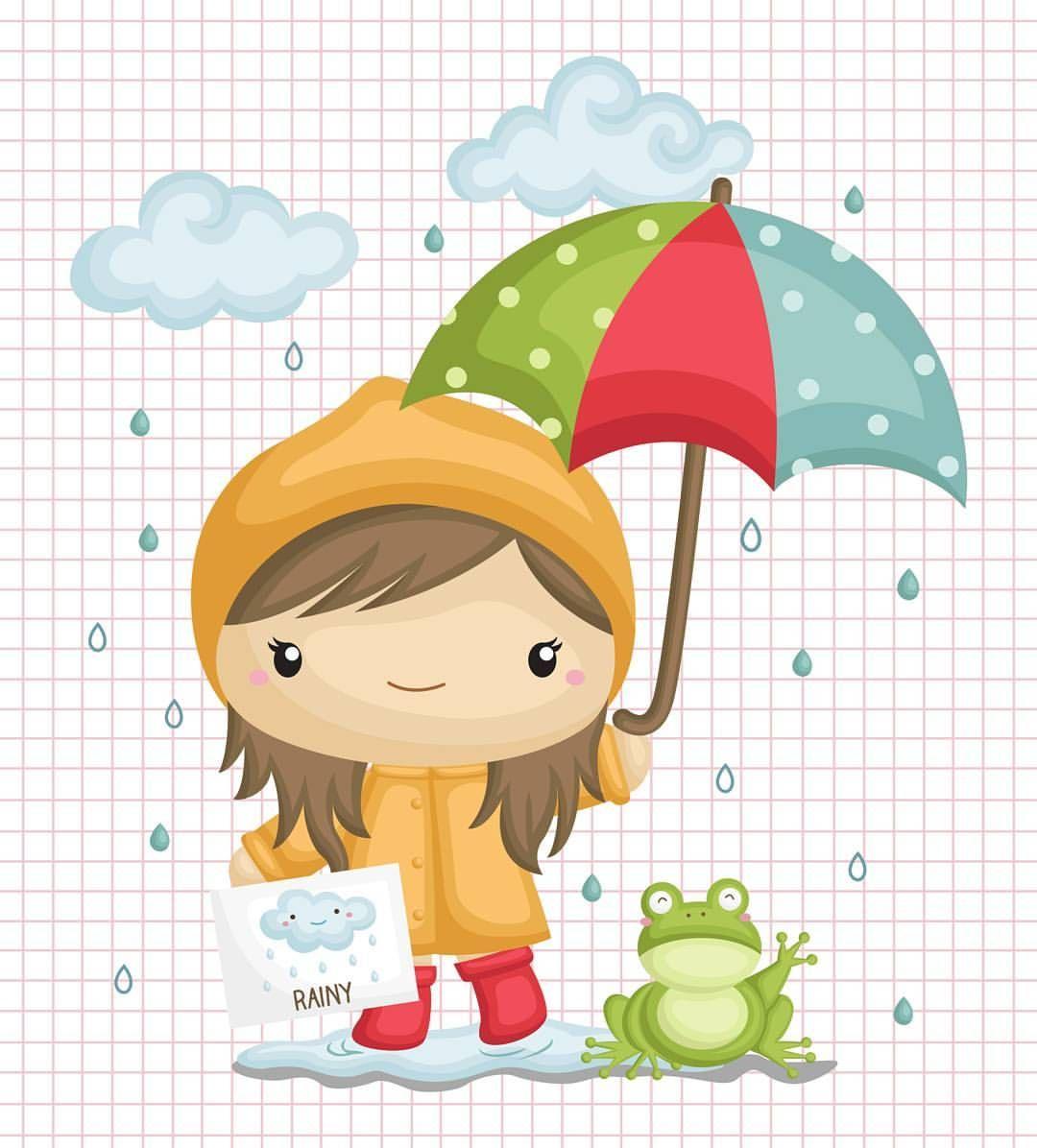 Umbrella For Rainy Day Illustration Umbrella Clipart Frog Paper Piecing Scrapbooking Clip Art Umbrella