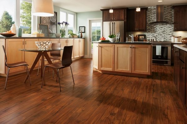 Fußboden Küche Linoleum ~ Linoleumboden holzoptik holzküche esszimmer fußbodenbelag