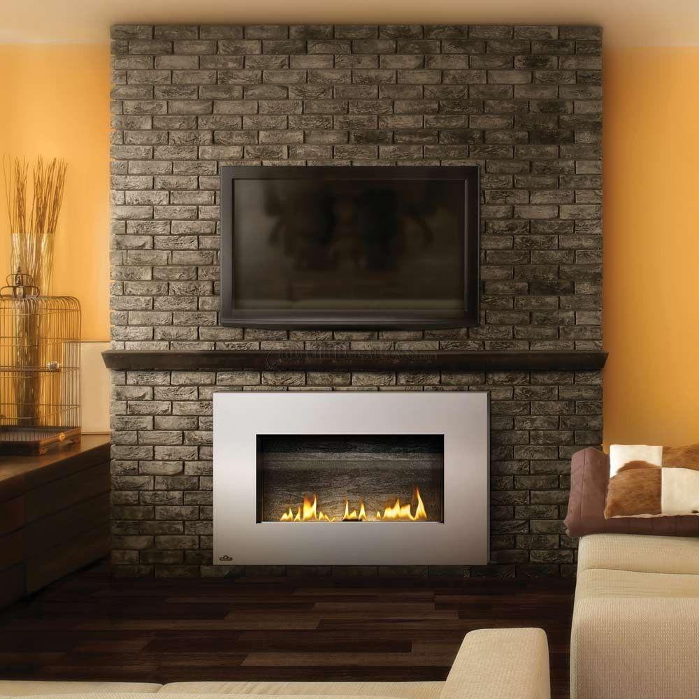 Tv On Brick Wall Ideas Http Umadepa Com Pinterest # Brick Meuble Tv Avec Foyer