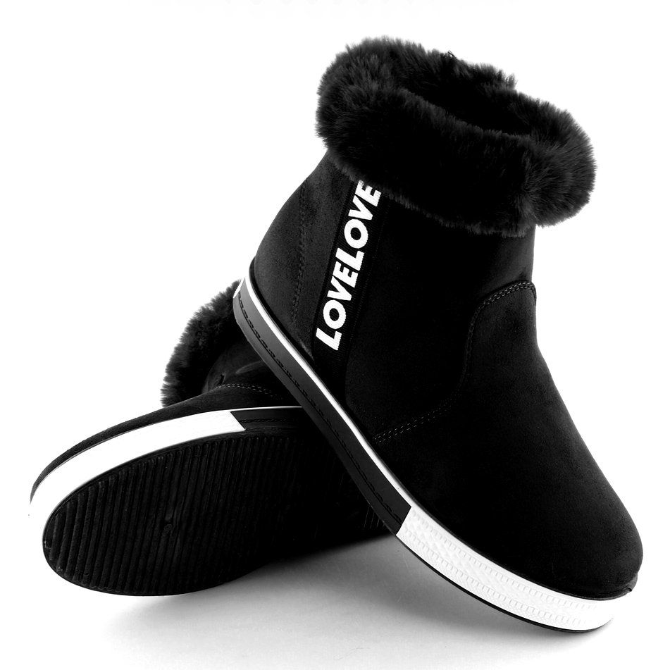 Trampki Za Kostke Ocieplane Czarne Nb252p Boots Uggs Ugg Boots