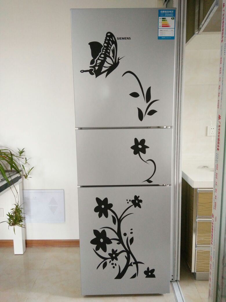 Creative Refrigerator Black Stickers Butterfly Pattern Wall Home Kitchen decor