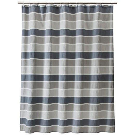 Seersucker Shower Curtain Gray Threshold Target Gray Shower