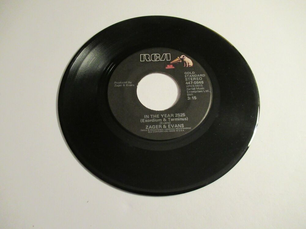 Zager & Evans: In The Year 2525 / Mr. Turnkey / 45 Rpm 1969
