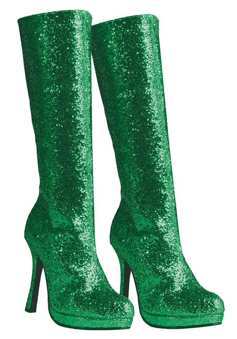 Green boots, Costume boots, Boots