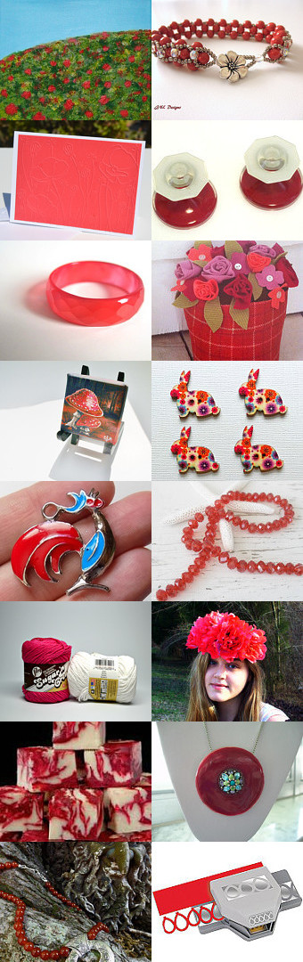 Red Poppy Visions by Nancy C. Eckert on Etsy--Pinned with TreasuryPin.com