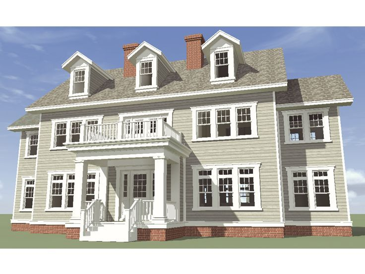 052h0037 colonial house plan for a large family