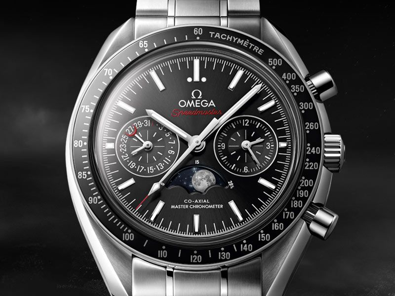 485e79d8f MOONWATCH OMEGA CO-AXIAL MASTER CHRONOMETER MOONPHASE CHRONOGRAPH 44.25 MM  Steel on steel 304.30.44.52.01.001