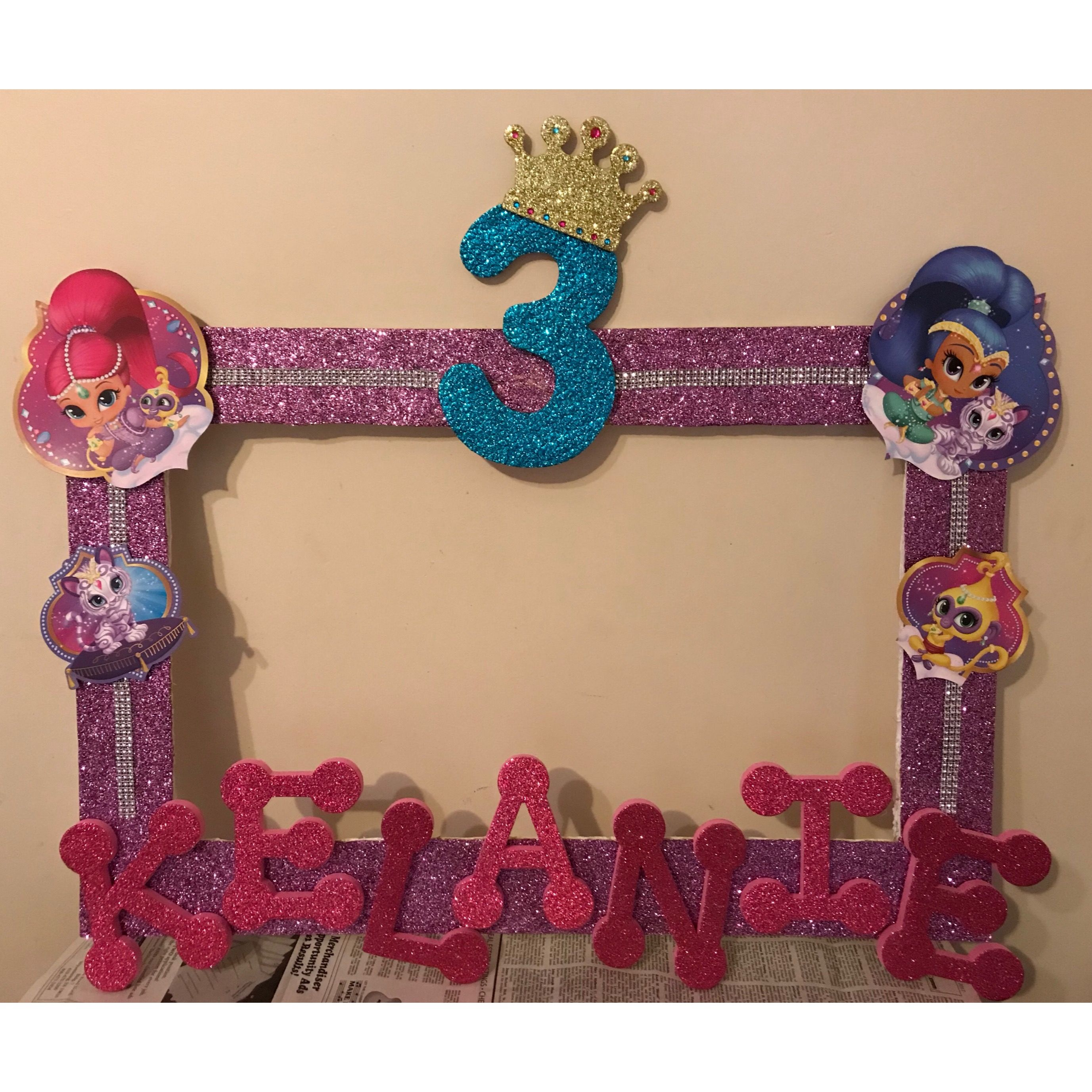 Shimmer And Shine Photo Booth Frame Birthday Party Ideas In 2019