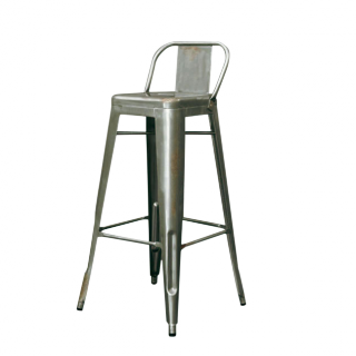 Industrial Barstool With Backrest Ideeen