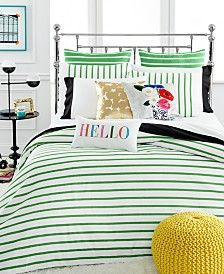Closeout Kate Spade New York Harbour Stripe Picnic Green Comforter