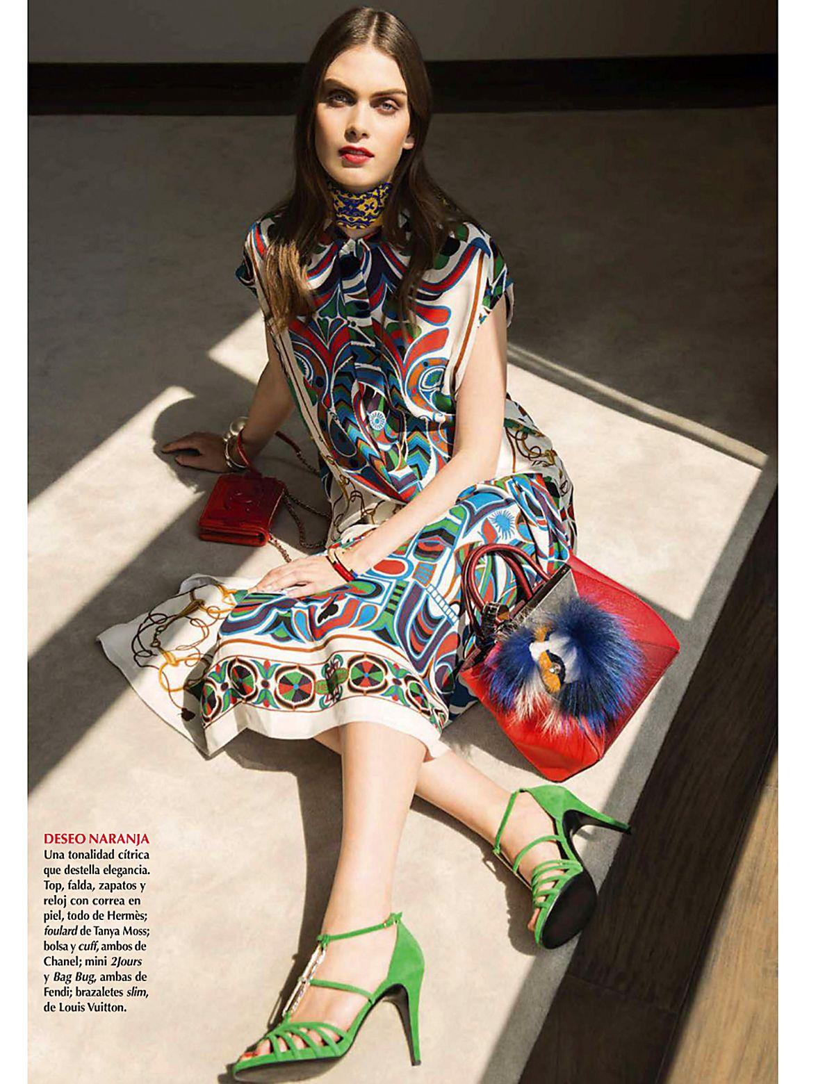 Hermes dress -  Maria Palm By Alexander Neumann For Vogue Mexico April 2014