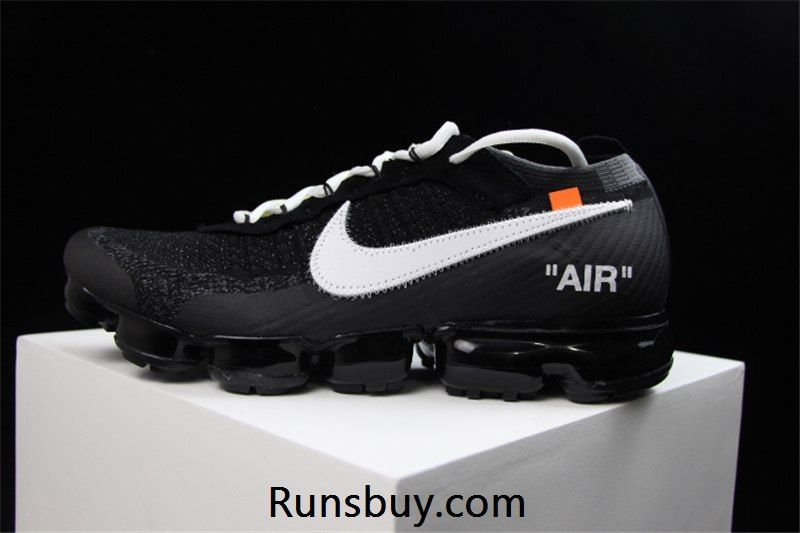 7f0aa57b32 WHITE x OW Nike Air VaporMax 2018 Flyknit Black Women Men | Winter ...
