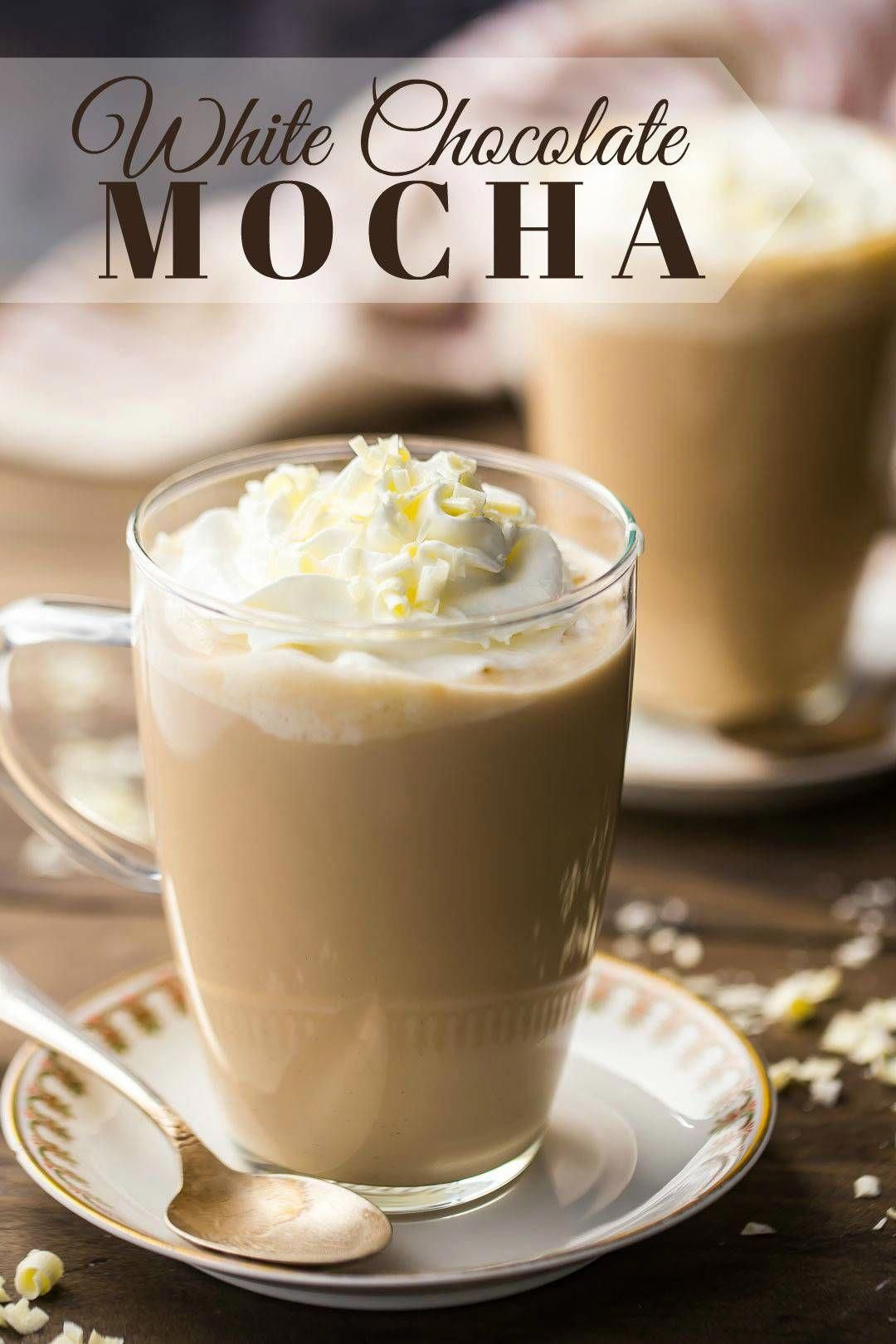 White Chocolate Mocha: such a yummy winter drink! I make this when I want to treat myself. #whitechocolate #mocha #starbucks #recipe #iced #DIY #coffee #frappuccino #keurig #hot #espresso #homemade #latte #howtomake #frappe #desserts #whippedcream #drinks #glutenfree #treats #food #sweets #milk #mornings #baking #christmas #winter #bakingamoment