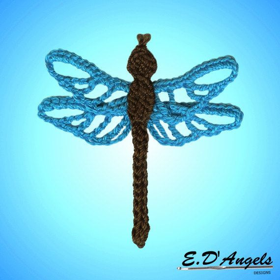 This Is A Crochet Pattern Of A Dragonfly You Can Personalize Your