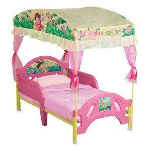 nickelodeon s dora the explorer toddler bed with canopy kalla rh pinterest ca