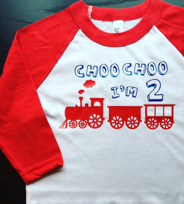 Choo Im 2 Second Birthday Shirt Train Thomas