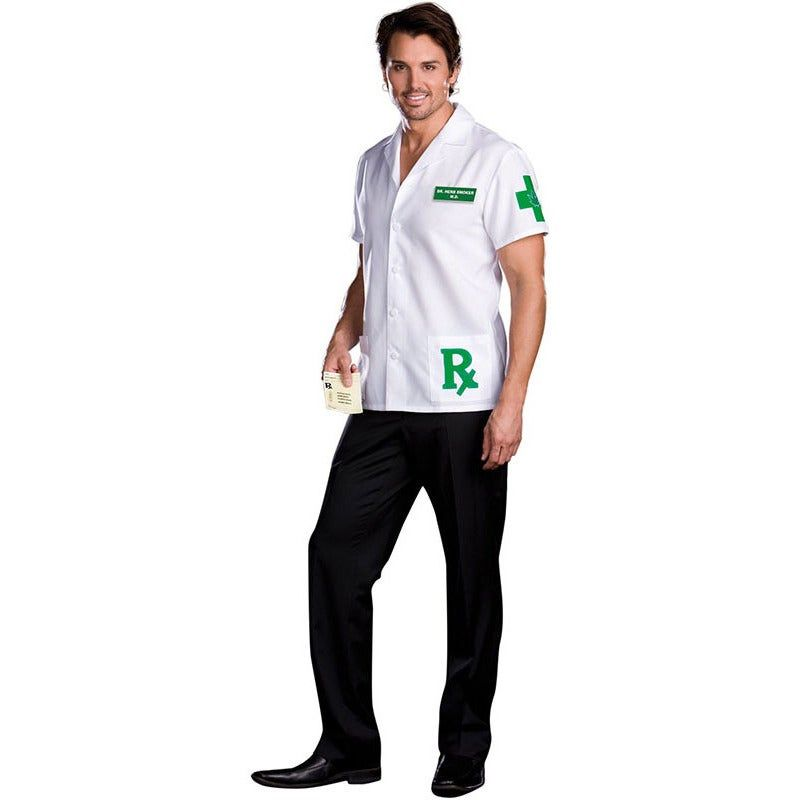 Dr. Herb Smoker Adult Costume Dr. Herb Smoker Adult CostumeYou'll be ready to prescribe a good time in this Dr Herb Smoker costume.Item Includes: Coat Name Badge Prescription PadPlease Note:Our products come with the items listed in the above product description. For accessories shown in the photo, please check our store for availability, as we stock a massive range of accessories to complete your look.