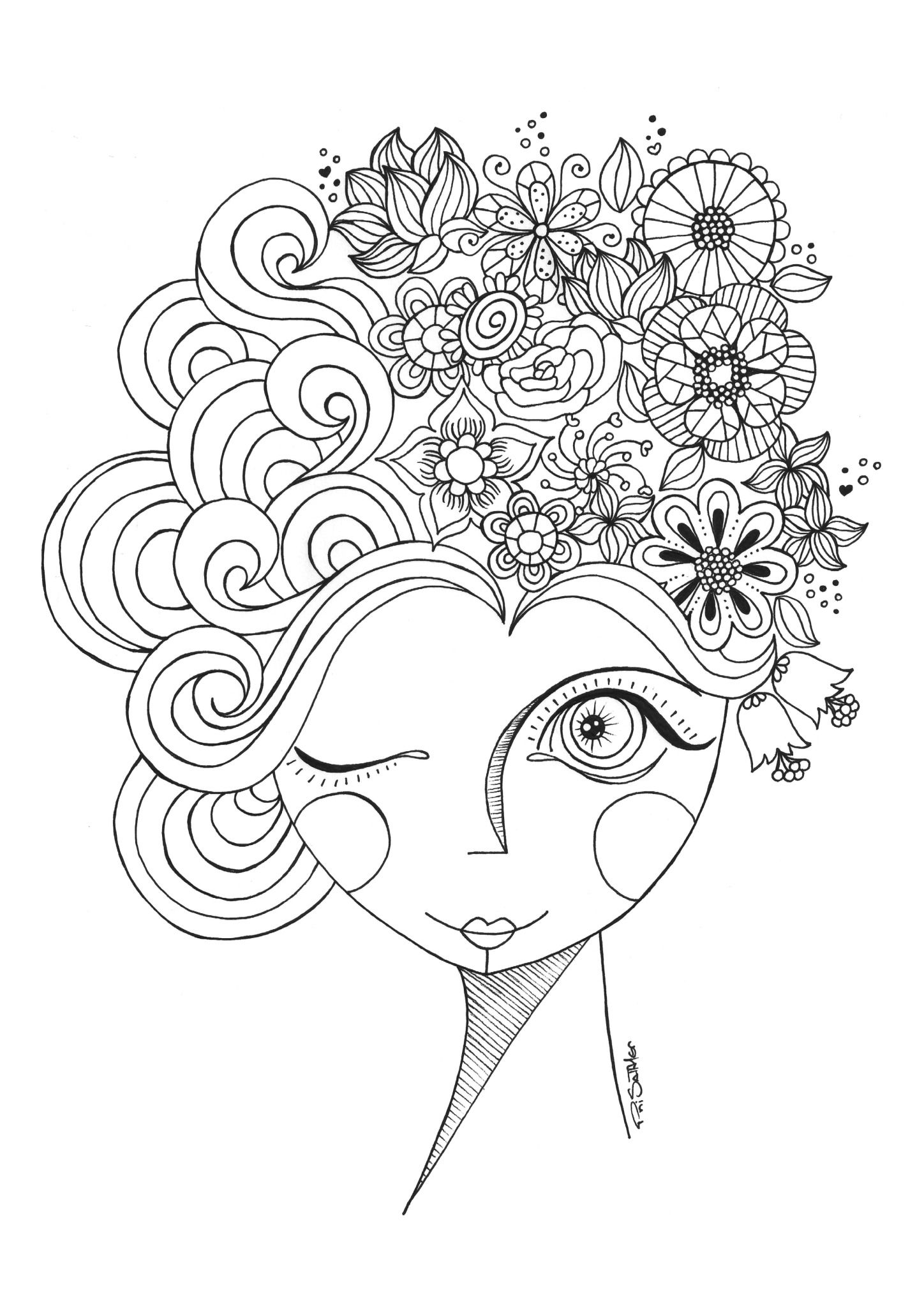 Pin Em Embroidery Pattern And Coloring Pages