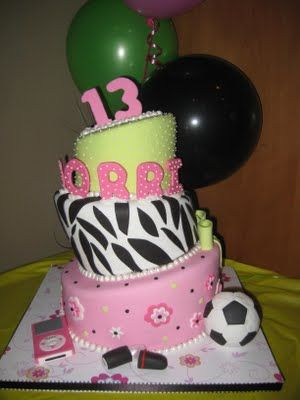 Prime Birthday Cake For A 13 Year Old Girl By The Sugar Chef 13 Funny Birthday Cards Online Alyptdamsfinfo