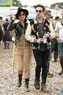 Glastonbury Festival 2014 - Daisy Lowe and Nick Grimshaw