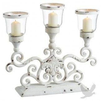 Antique White Three Votive Centerpiece Candle Holder #centerpiece #wedding #ideas