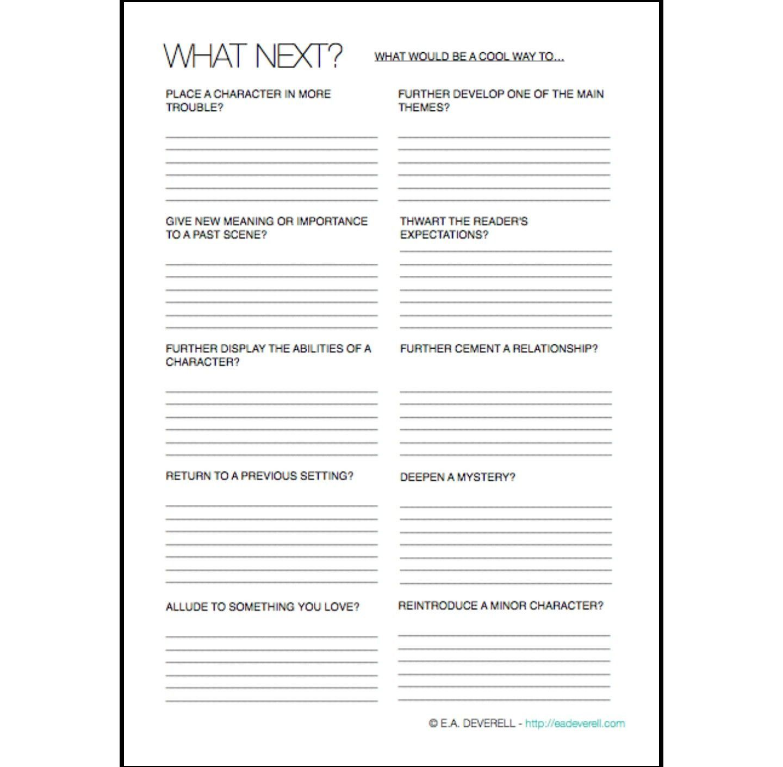 Classifiedlinear Character Development Worksheet