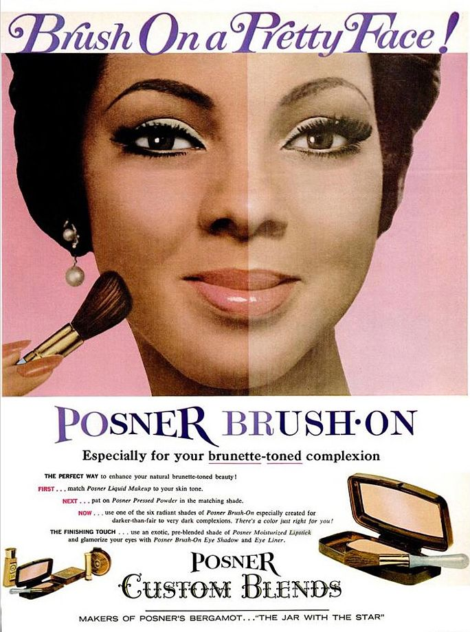 Vintage Makeup for Darker Skin Tones Foundations and