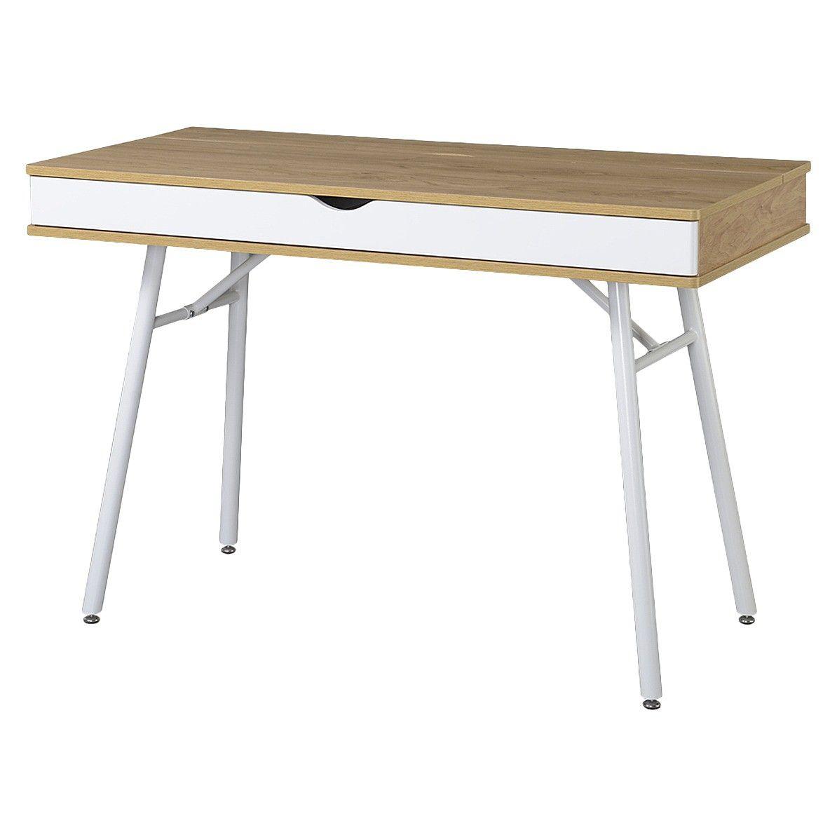 Modern Multi Storage Computer Desk With Storage Beige White Techni Mobili Desk Desk Storage Computer Desk