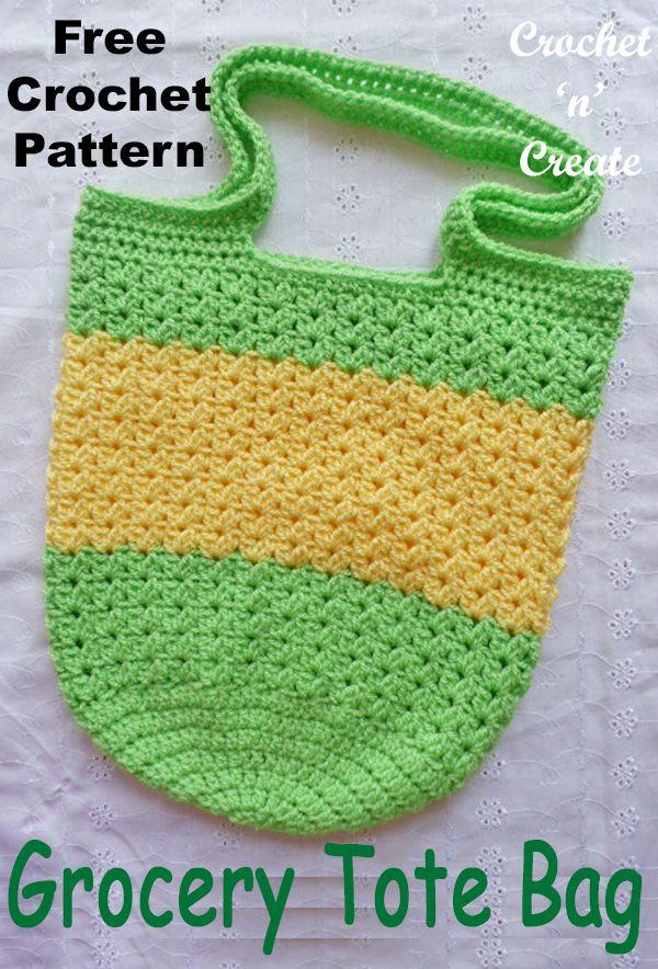 Crochet Grocery Tote | Crochet ____ Bolsos y Mochilas | Pinterest ...