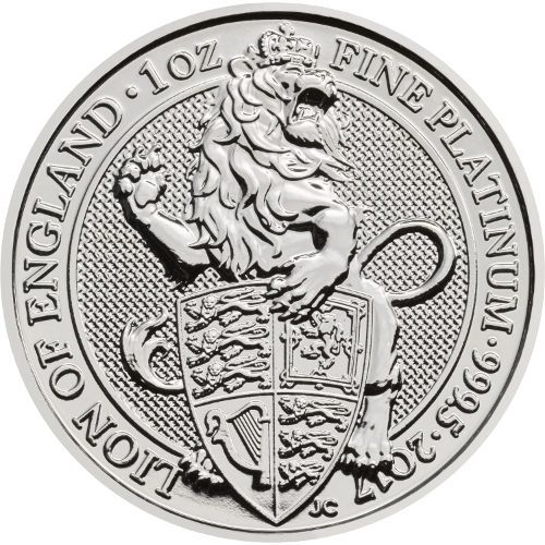 2019 Great Britain 1 oz Platinum Queen/'s Beasts The Unicorn