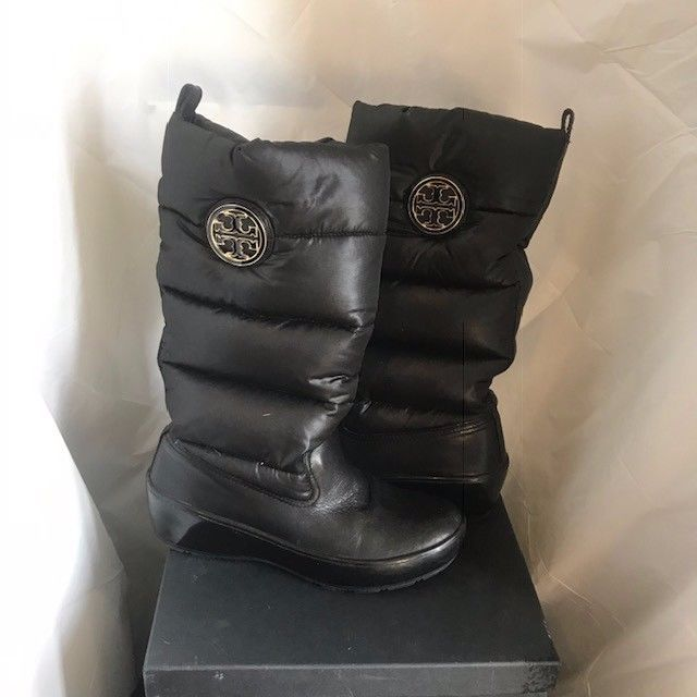 5d6b2d5be20 Tory Burch Black Winter Puffer Boots Size 7 in Women s  fashion  clothing   shoes
