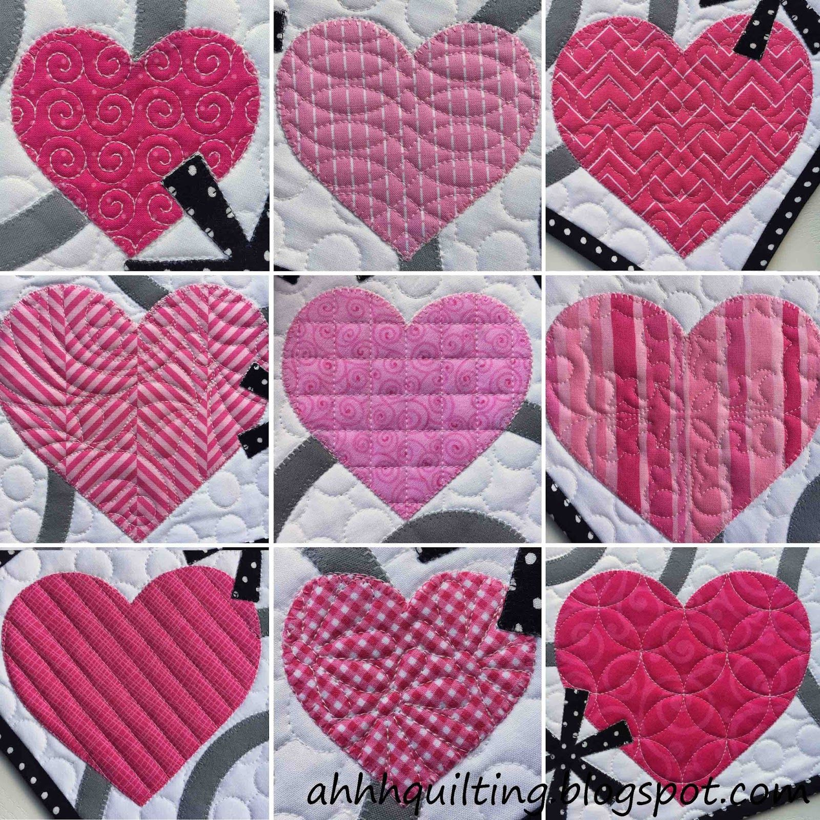 Free Motion Quilting Designs Hearts : Here s the quilt I ve been working on this week. After months of not feeling like doing much of ...