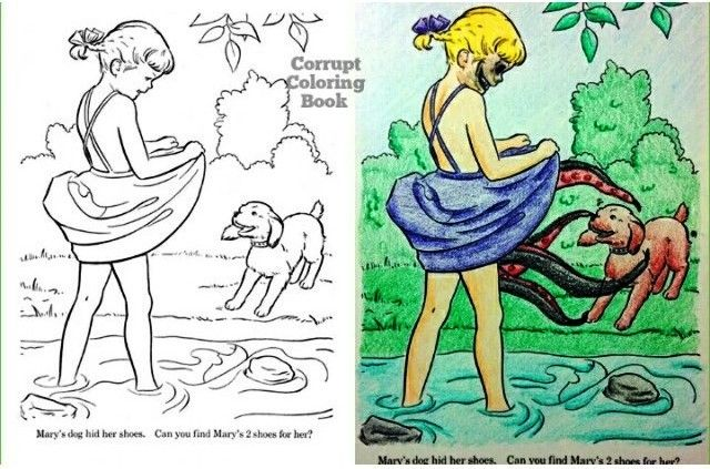 Corrupted Coloring Books Disney