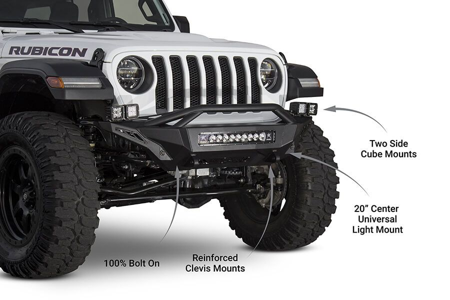 2018 2020 Jeep Jl Jt Stealth Fighter Top Hoop Front Bumper Jeep Truck Bumpers Jeep Jl