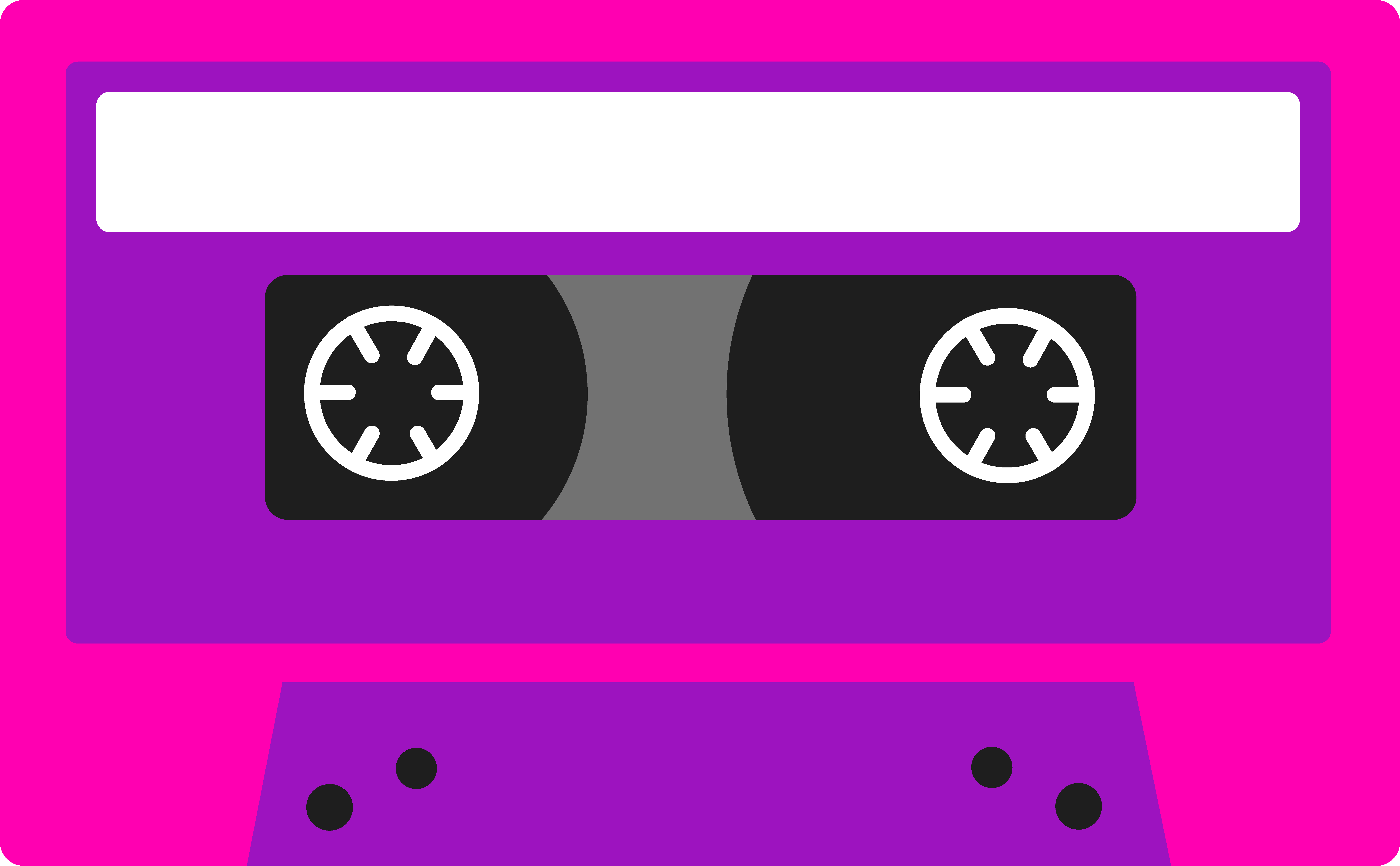 80s Graphics Clip Art Pink And Purple Cassette Tape Free Clip Art Cassette Tapes Free Clip Art 80s Theme Party