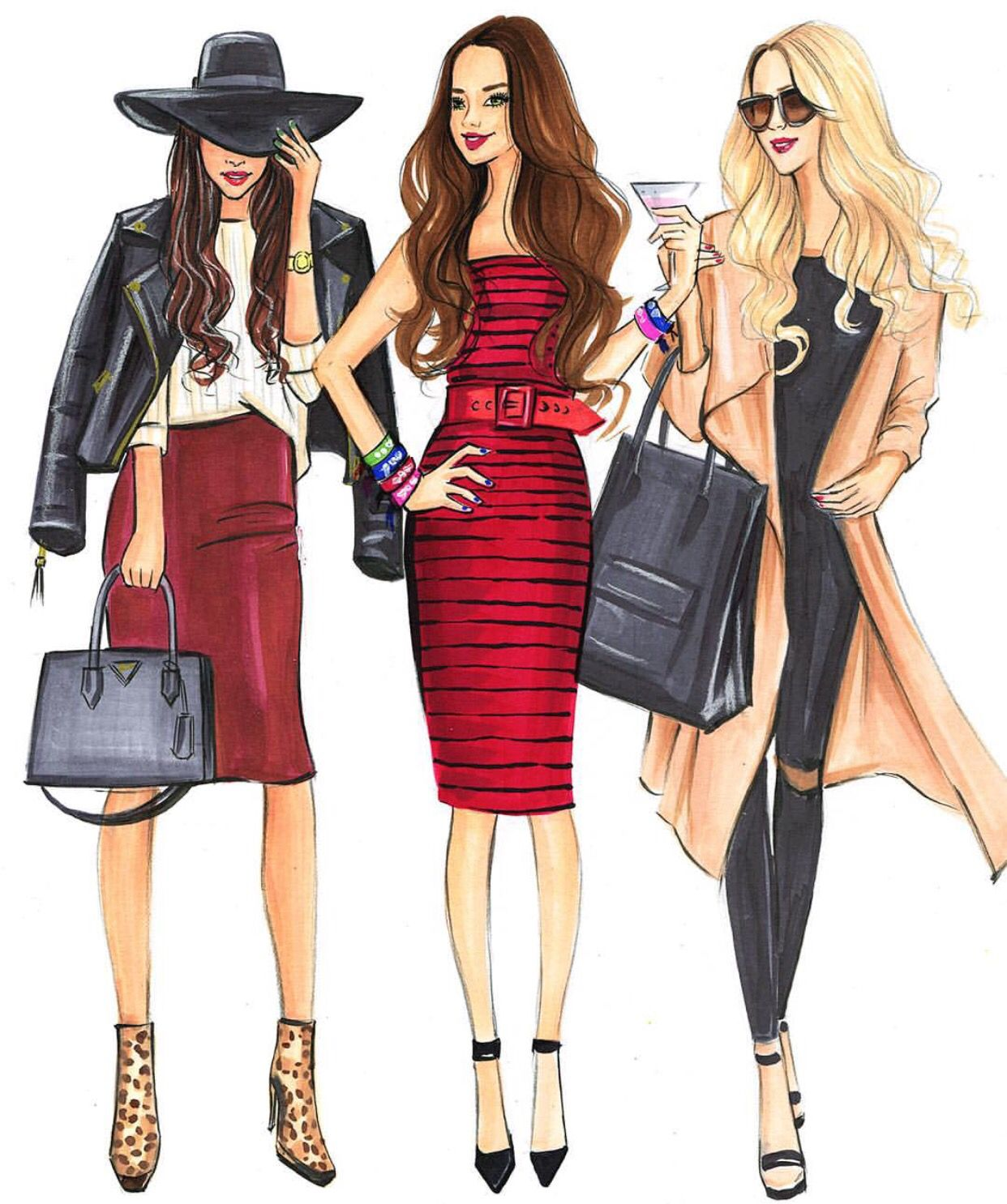 Rongrong Devoe Illustration Be Inspirational Mz Manerz Being Well Dressed Is A Beautiful Form Of Con Fashion Sketches Fashion Illustration Fashion Drawing