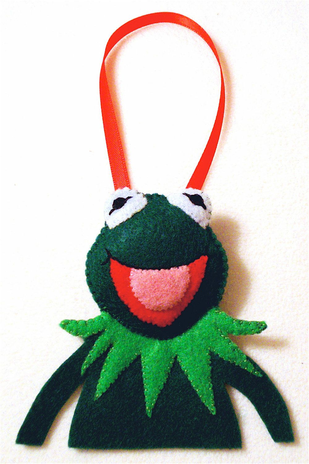 Image Of Kermit The Frog Christmas Ornament Hand Painted Wood Kermit ...