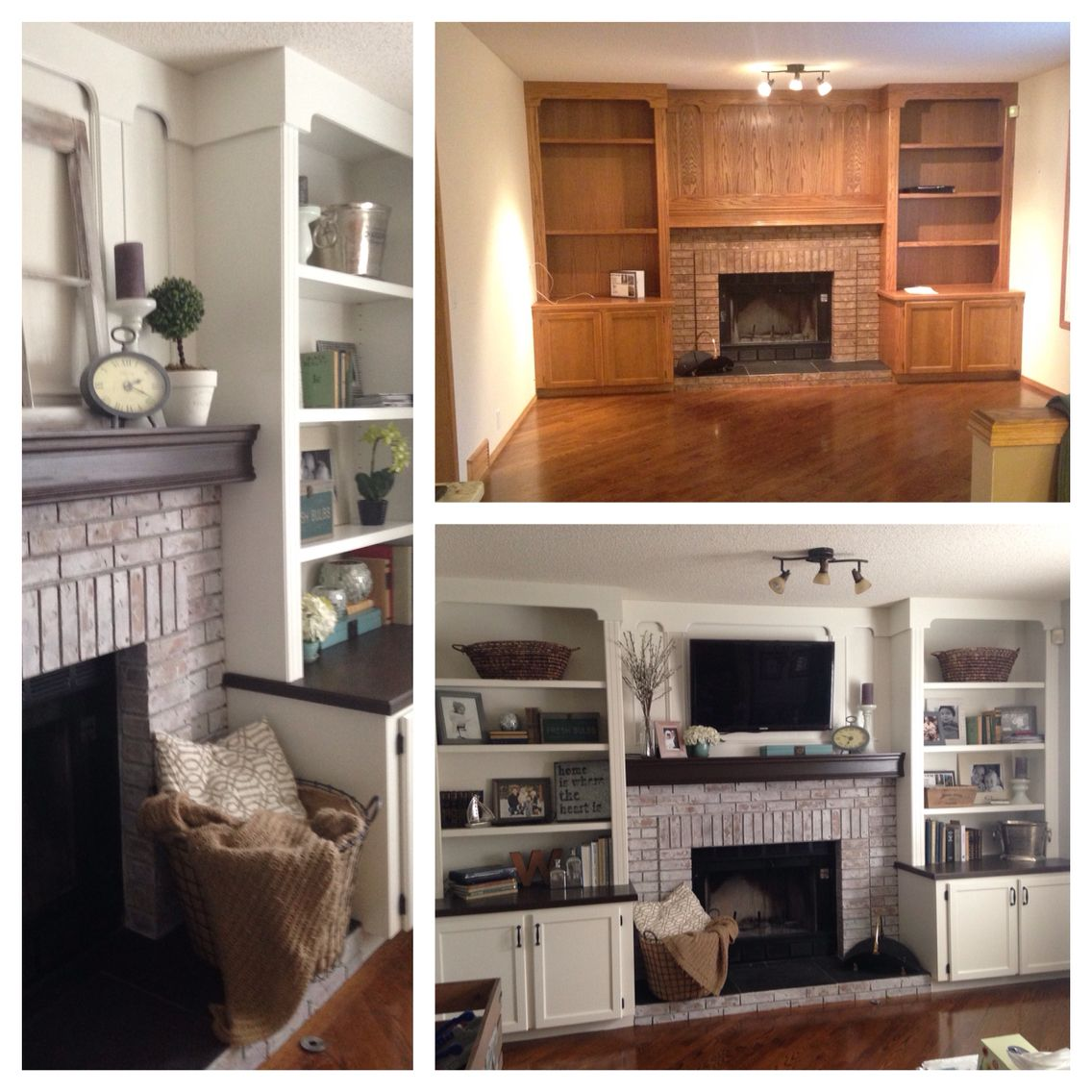 White Wash Gel Stain: White Washed Brick And Painted Oak...Bam, New Fireplace