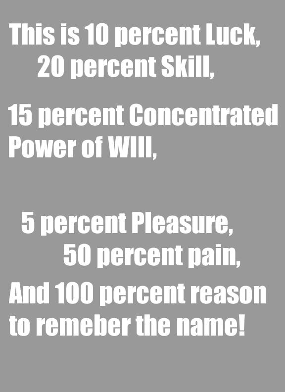 10 Luck 20 Skill Lyrics : skill, lyrics, Words