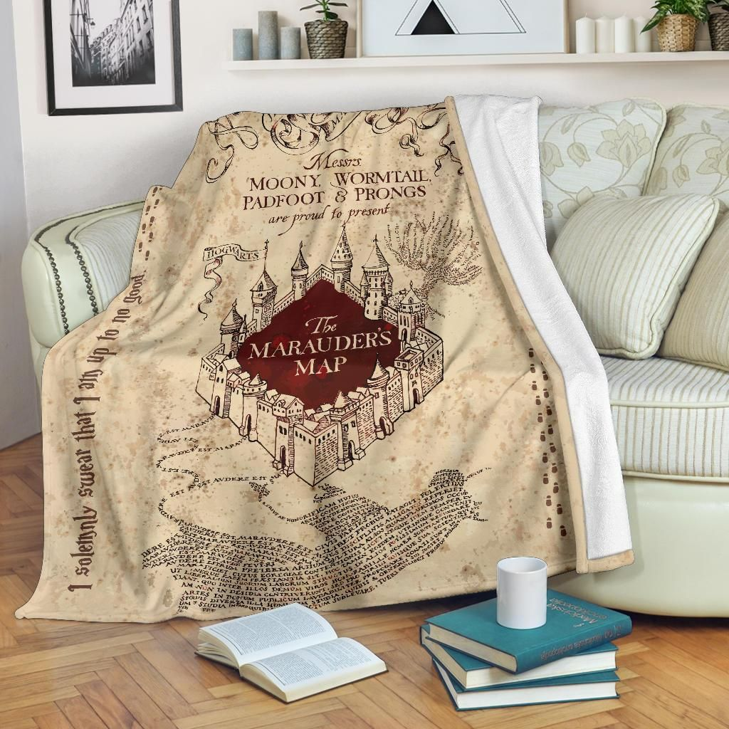 Keep warm with These Harry Marauders Map Premium Blankets.Available for a limited time — RIGHT NOW!! — and they are going fast. So if you are a Harry Potter obsessive, get to it and don't delay. All of our Blankets are custom-made-to-order and handcrafted to the highest quality standards. Each blanket features a premium suede polyester print for beautiful color vibrancy. Cozy underside is constructed from an ultra-soft micro fleece fabric to keep you warm and comfortable. Perfect for snuggling w