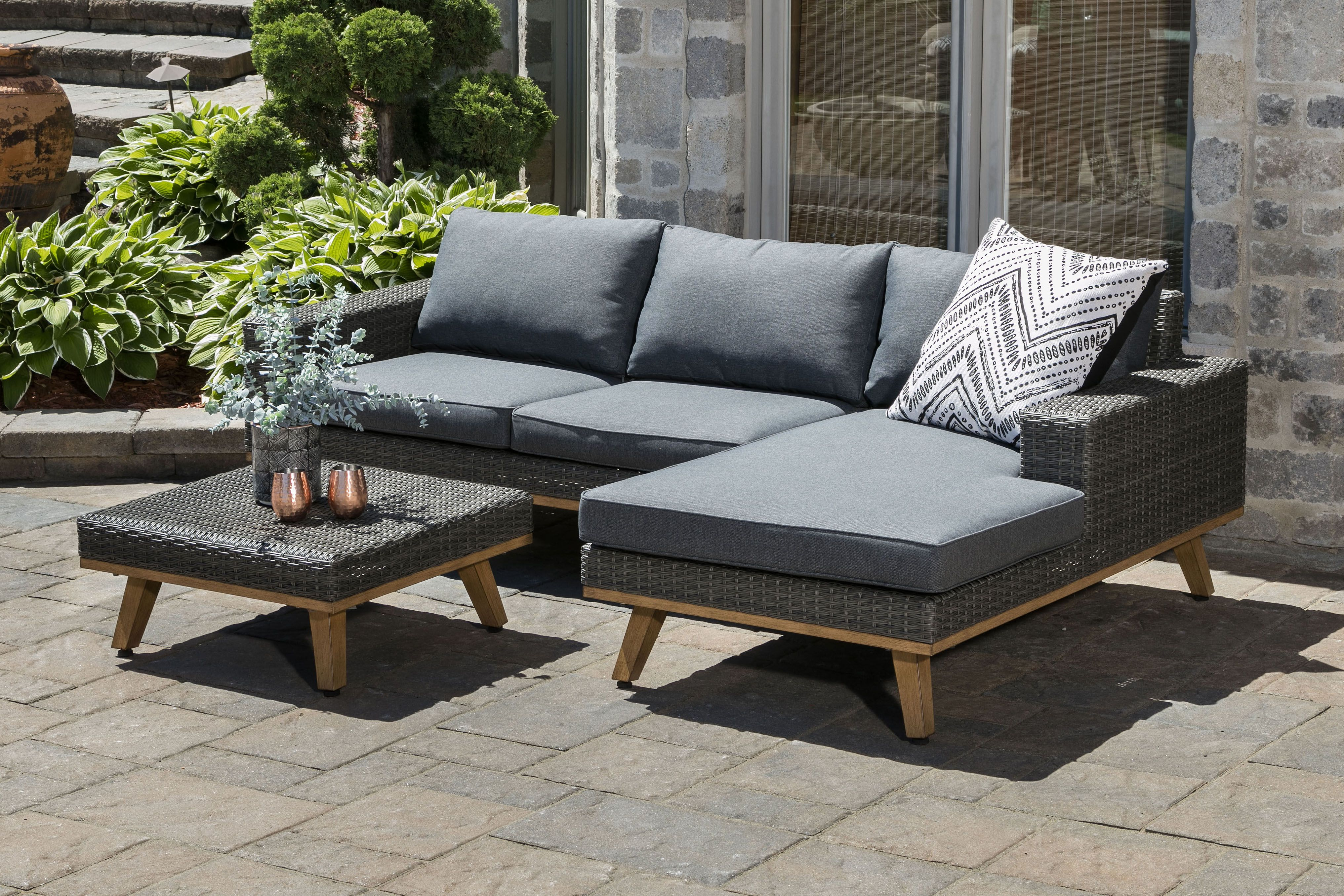 Sectionnel Exterieur Java Outdoor Sectional Outdoor Sectional Sofa Home Decor Outdoor Furniture
