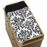 Isabella Black and White Damask Changing Pad Cover by JoJo Designs