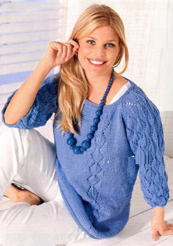 вязание для полных женщин пуловер | Одежда больших ...