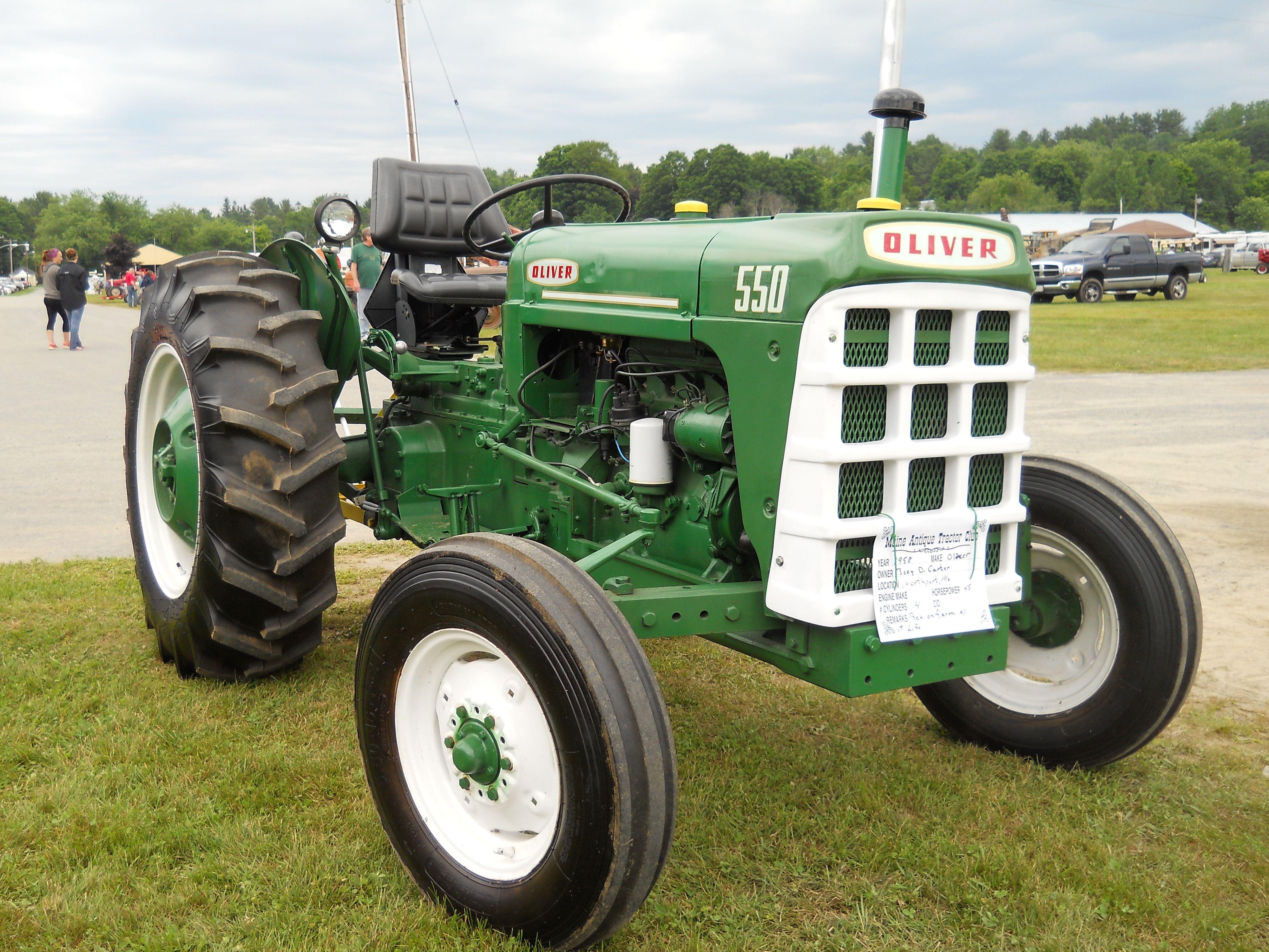 White tractor logo