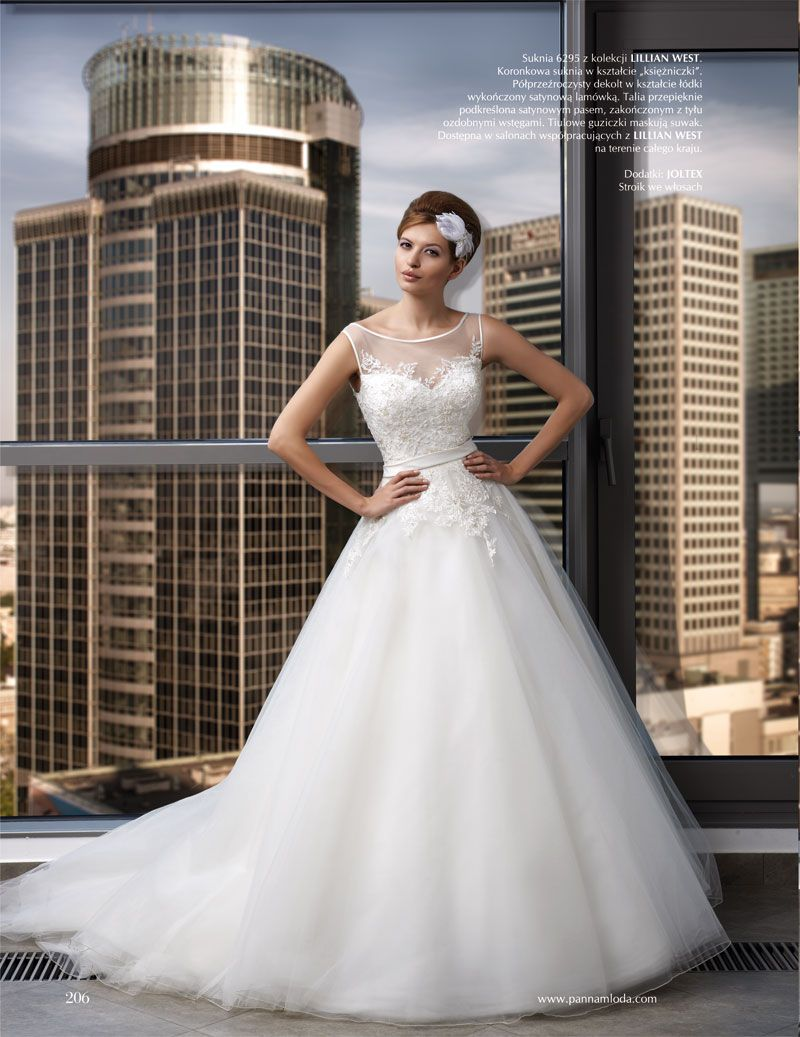 Lillian west wedding dress  Beaded tulle and lace wedding dress PannaMloda tulle editorial