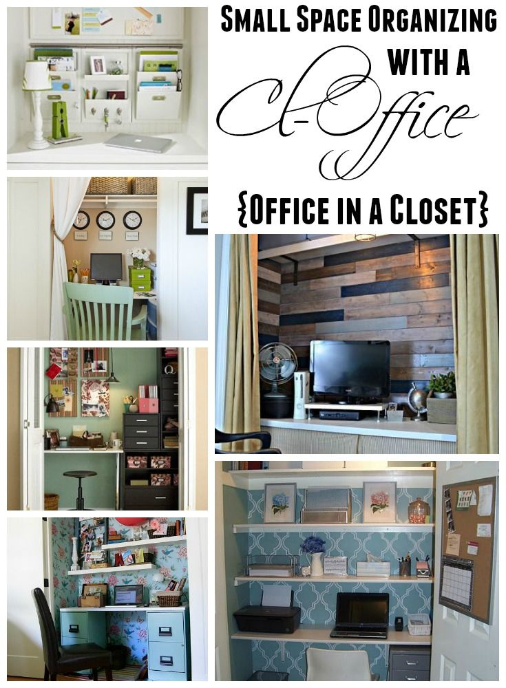 Exceptional Get Organized In A Small Space With A Cloffice {Office Closet
